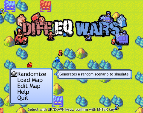 Diff EQ Wars title screen
