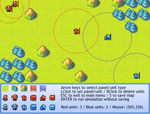 Diff EQ Wars map editor screen
